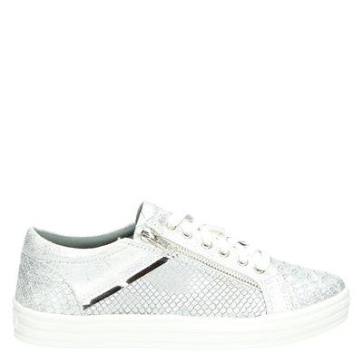 La Strada dames lage sneakers zilver