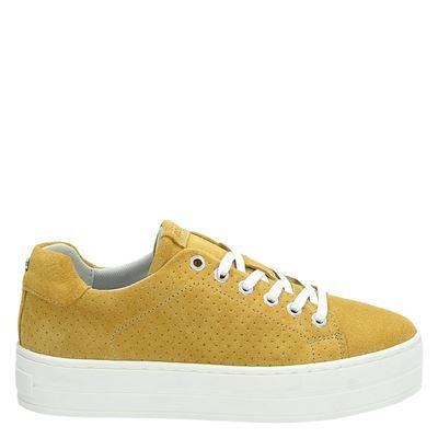 Bullboxer dames platform sneakers geel