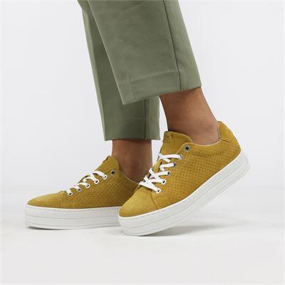 Bullboxer dames sneakers geel