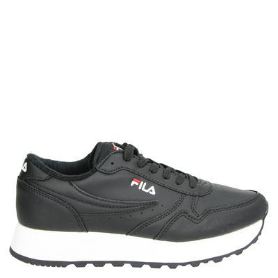 Fila dames platform sneakers zwart