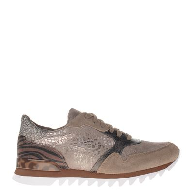 Tamaris dames sneakers taupe