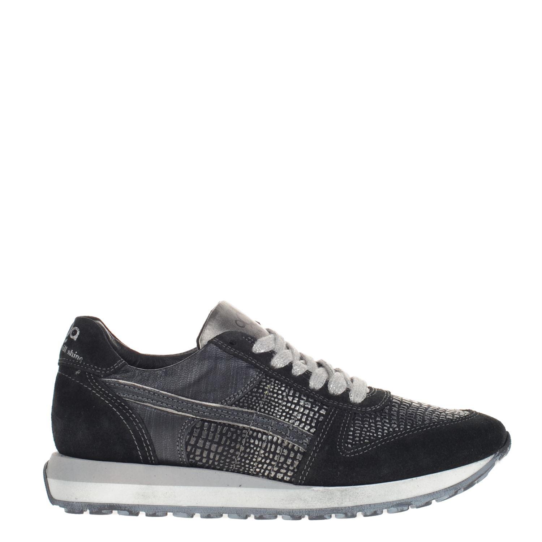 Aqa dames lage sneakers zwart
