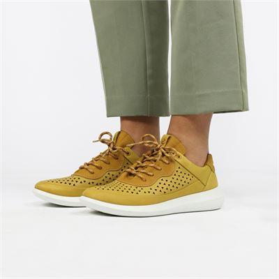 Ecco dames sneakers geel