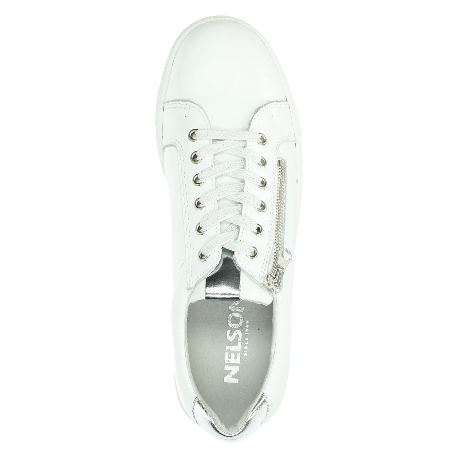 Nelson Dames Dames Lage Nelson Wit Nelson Lage Sneakers Sneakers Dames Wit FXOOwRxnqd