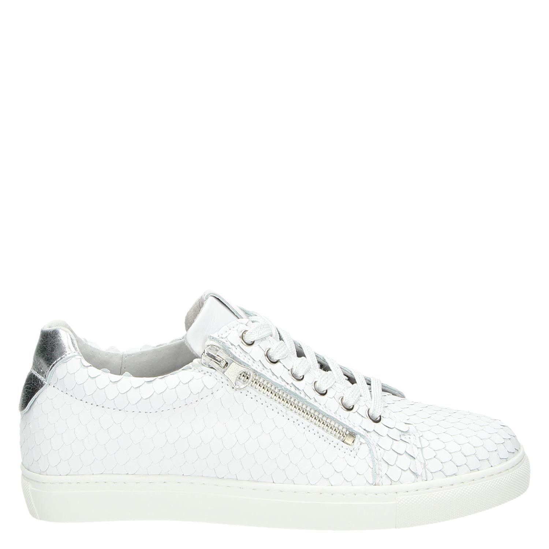c2bdd8d6817 Nelson dames lage sneakers wit