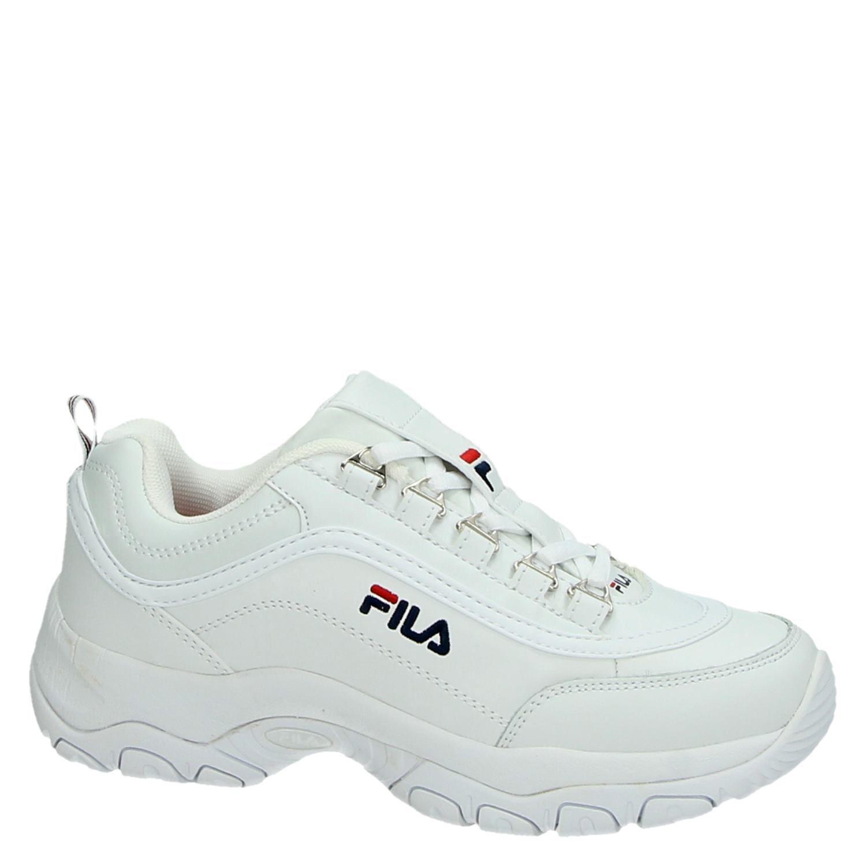 echte schoenen Bij vrijgave nieuw ontwerp Fila Strada dames dad sneakers wit