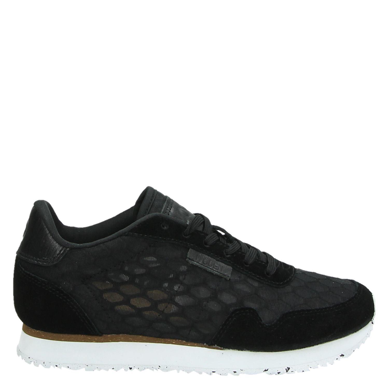 ac03dec02d7 Woden Nora II Mesh dames lage sneakers zwart