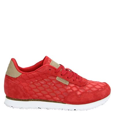 Woden dames sneakers rood