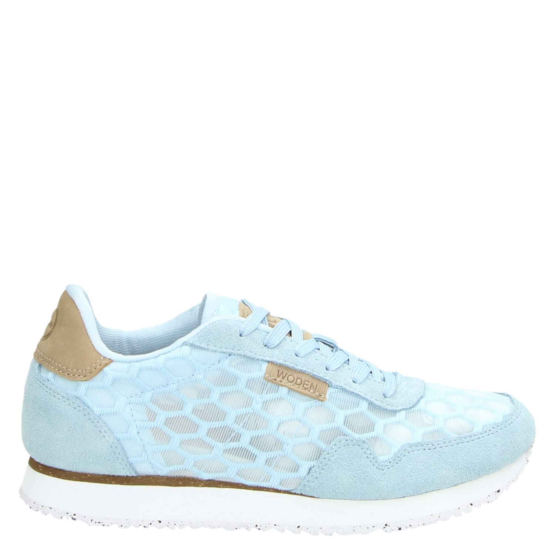 1e914c2a4e7 Woden Nora II Mesh dames lage sneakers blauw