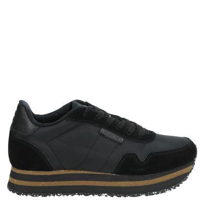 Woden dames sneakers zwart
