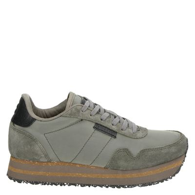 Woden dames sneakers taupe