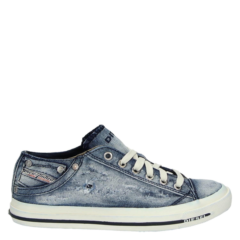 dames sneakers spijkerstof