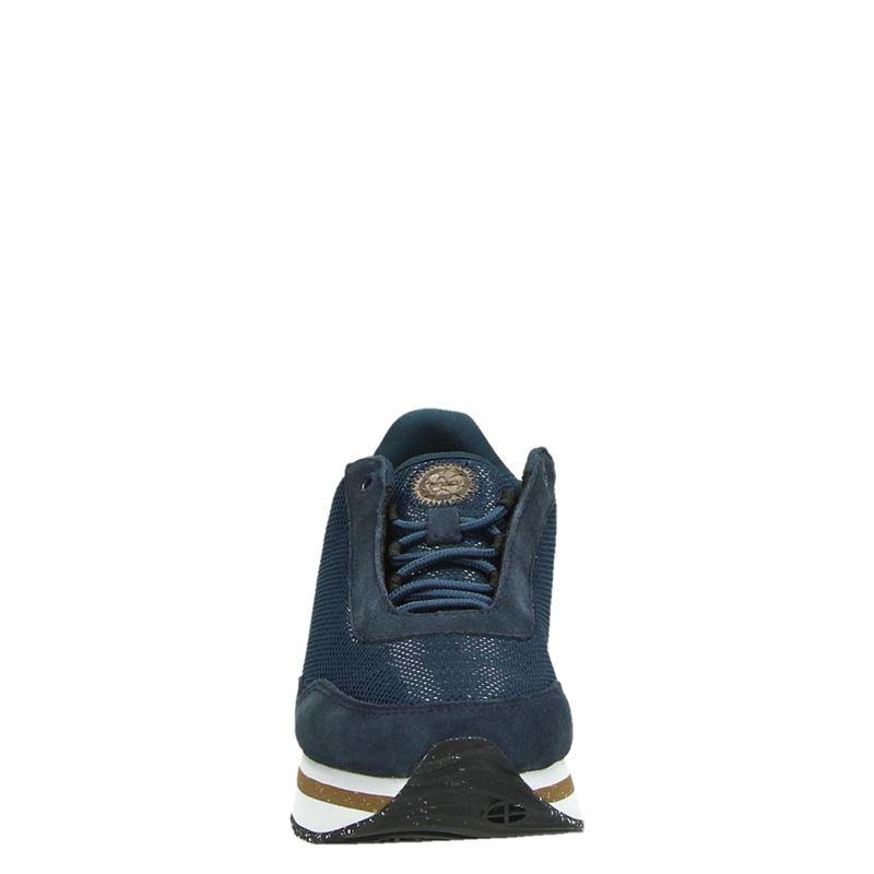 Woden Ella Mesh - Lage sneakers - Blauw