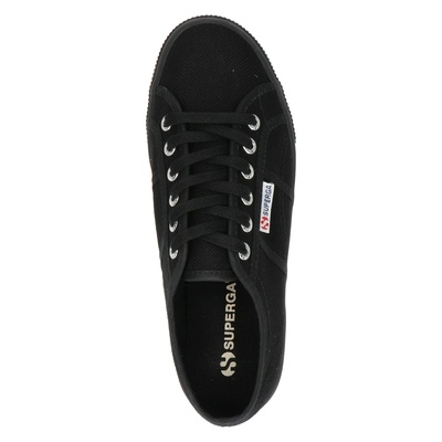 Superga dames platform sneakers Zwart