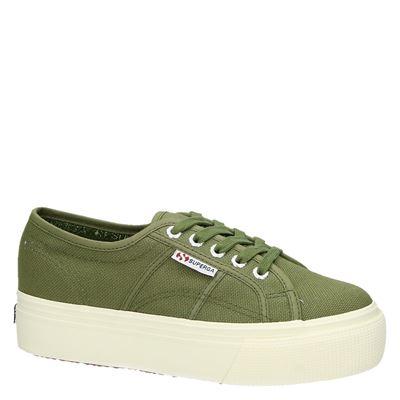 Superga dames platform sneakers Groen