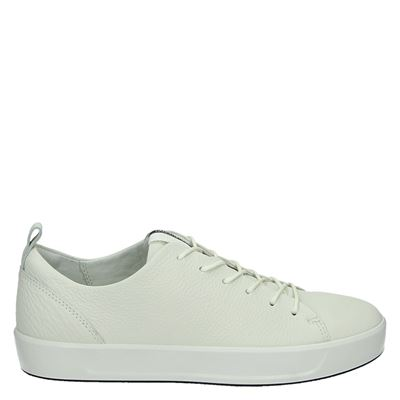 Ecco dames lage sneakers wit