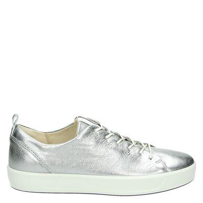 Ecco dames lage sneakers zilver