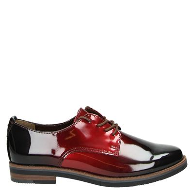 Marco Tozzi dames veterschoenen rood