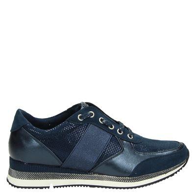 Marco Tozzi dames sneakers blauw