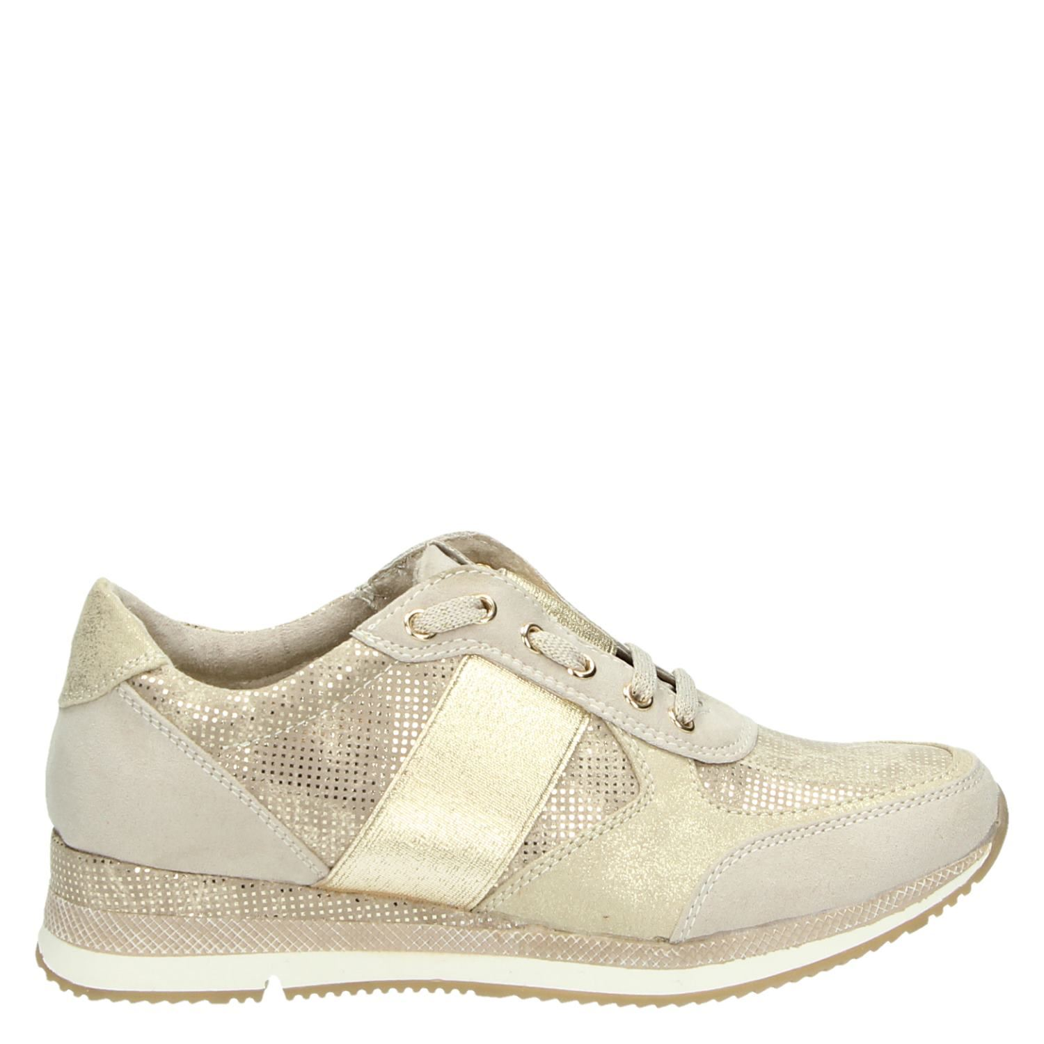 great look outlet store sale best deals on Marco Tozzi dames lage sneakers beige