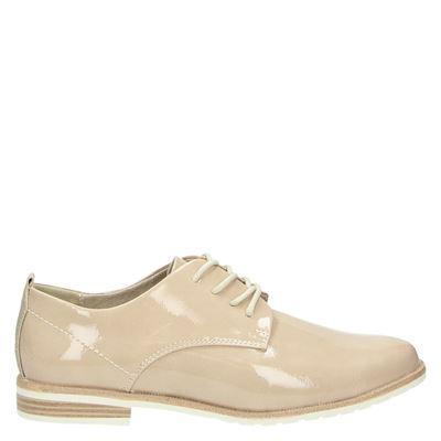 Marco Tozzi dames veterschoenen beige