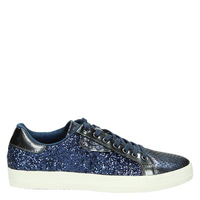 Tamaris dames sneakers blauw