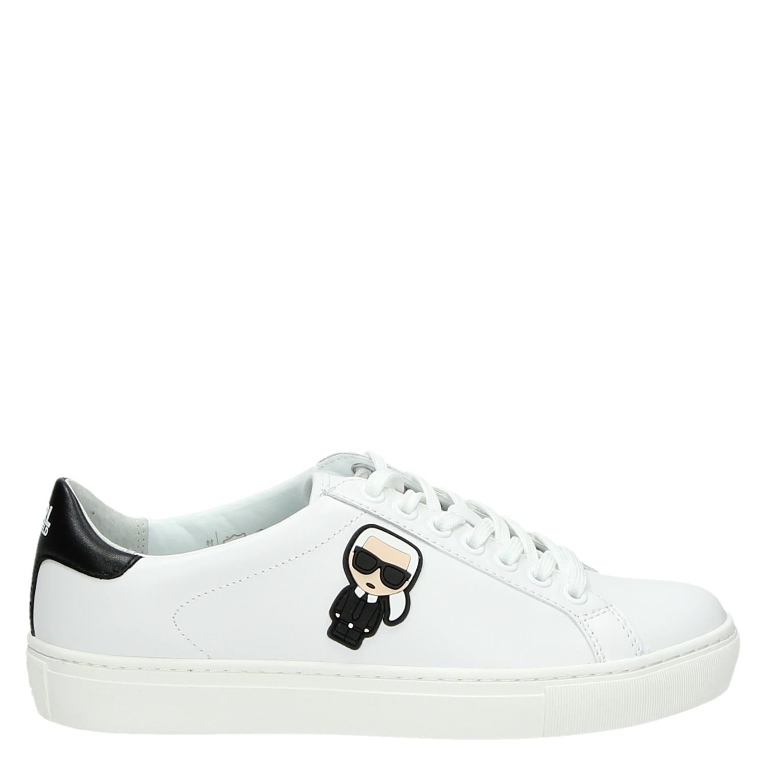 Wit Kupsole Dames Karl Lagerfeld Lage Sneakers 0XCxqOFn5w