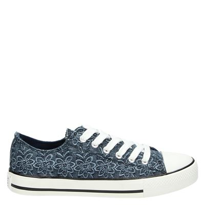 Supercracks dames veterschoenen blauw