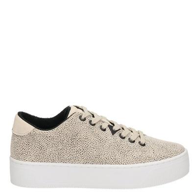 Hub dames platform sneakers beige