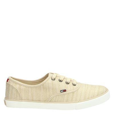 Tommy Jeans dames sneakers beige