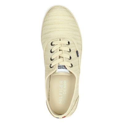 Tommy Jeans dames lage sneakers Beige