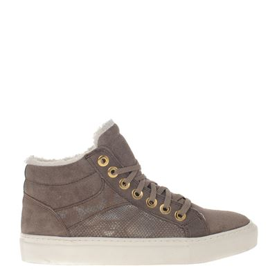 Hobb's dames sneakers taupe