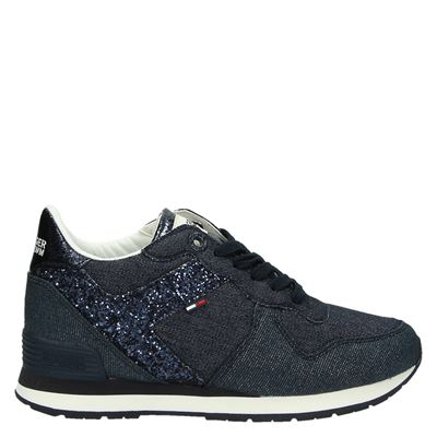 Hilfiger Denim dames sneakers blauw
