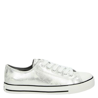 Supercracks dames sneakers zilver