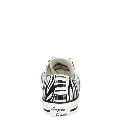 Supercracks dames lage sneakers Zwart