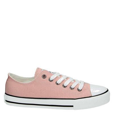Supercracks dames lage sneakers Roze
