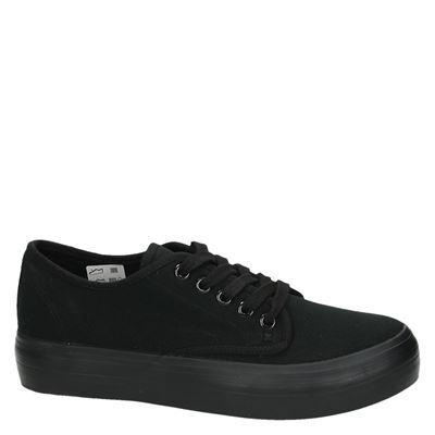 Hobbs dames platform sneakers Zwart