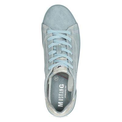 Mustang dames lage sneakers Blauw