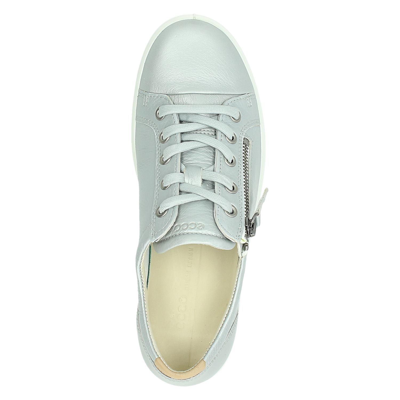 Ecco Soft 7 Lage sneakers voor dames Zilver Nelson.nl