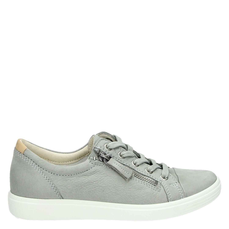 Ecco Soft 7 lage sneakers grijs Damesschoenen.nl