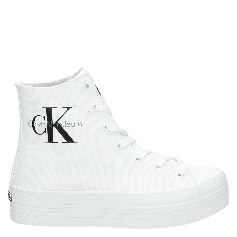 af83fd7a594 Calvin Klein Zabrina dames hoge sneakers wit