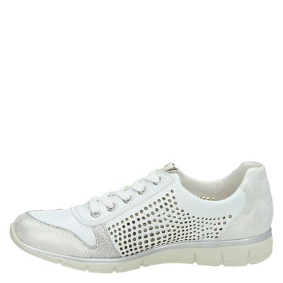 Rieker dames lage sneakers Wit
