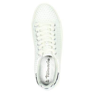 Tamaris dames lage sneakers Wit