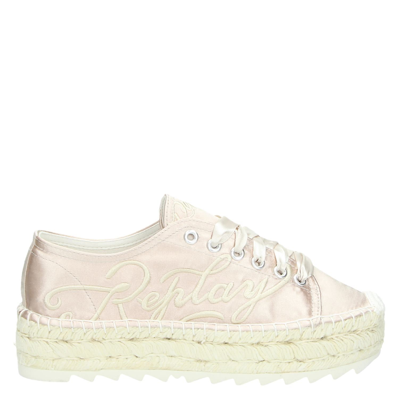 Replay platform sneakers roze