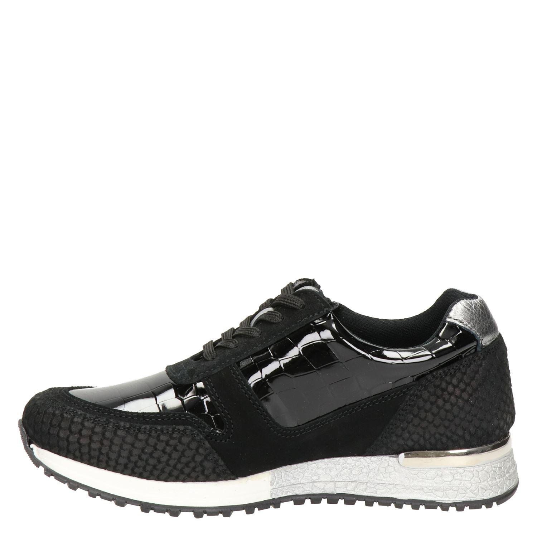 PS Poelman - Lage sneakers voor dames - Zwart Iqk9aid
