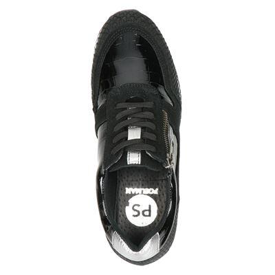 PS Poelman dames lage sneakers Zwart