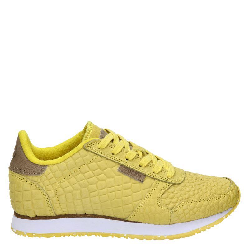 Woden Ydun Croco - Lage sneakers - Geel