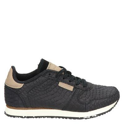 Woden Ydun Croco - Lage sneakers - Zwart