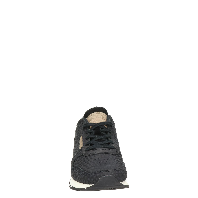 Woden Ydun Croco - Lage sneakers voor dames - Zwart o9SM2b4