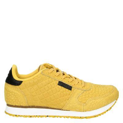 Woden dames lage sneakers geel